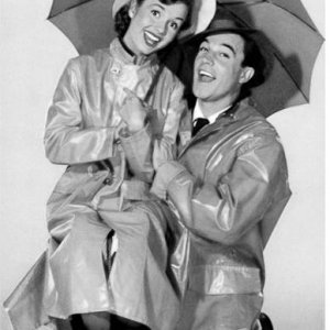 Gene Kelly and Debbie Reynolds in Singing in the Rain (1952).