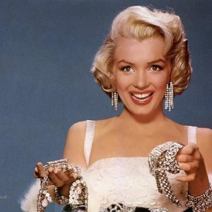 Diamonds are a girl's best friend, according to Marilyn!