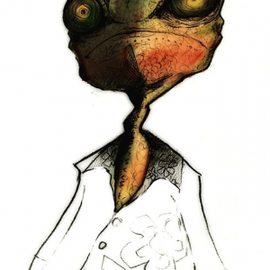 Rango pencil sketch